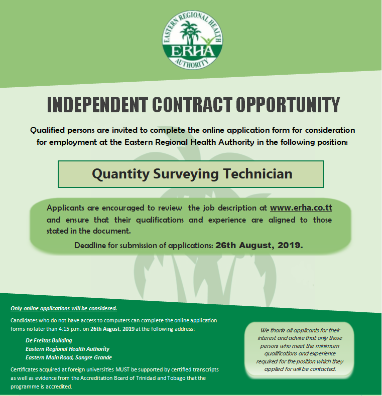 Independent Contract Opportunity – Quantity Surveying