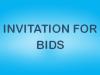 Invitation for Bids – Health Services Support Program